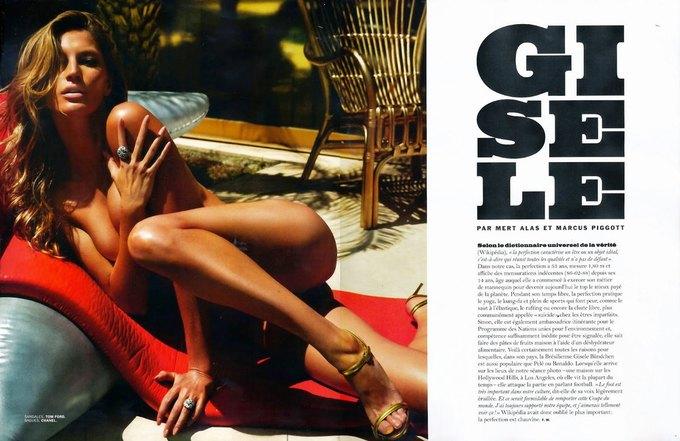 Жизель Бюндхен сфотографировалась для журнала Lui Magazine. Изображение № 2.