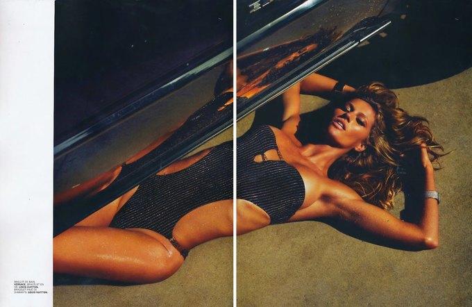Жизель Бюндхен сфотографировалась для журнала Lui Magazine. Изображение № 3.