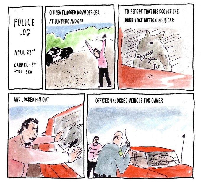Police Log Comics: Абсурдные полицейские сводки в формате комиксов. Изображение № 8.