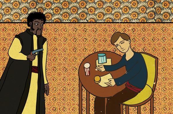 Турецкий художник изобразил кадры из известных фильмов в стиле миниатюр времен Османской империи. Изображение № 23.