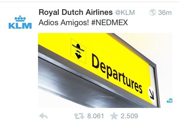 Голландская авиакомпания разозлила мексиканских фанатов расистским твитом. Изображение № 1.