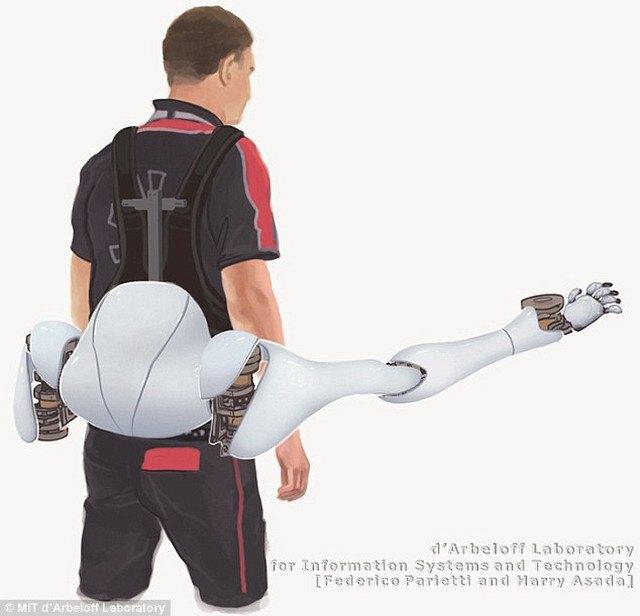 Американские роботехники «приделали» к человеку пару дополнительных рук. Изображение № 1.