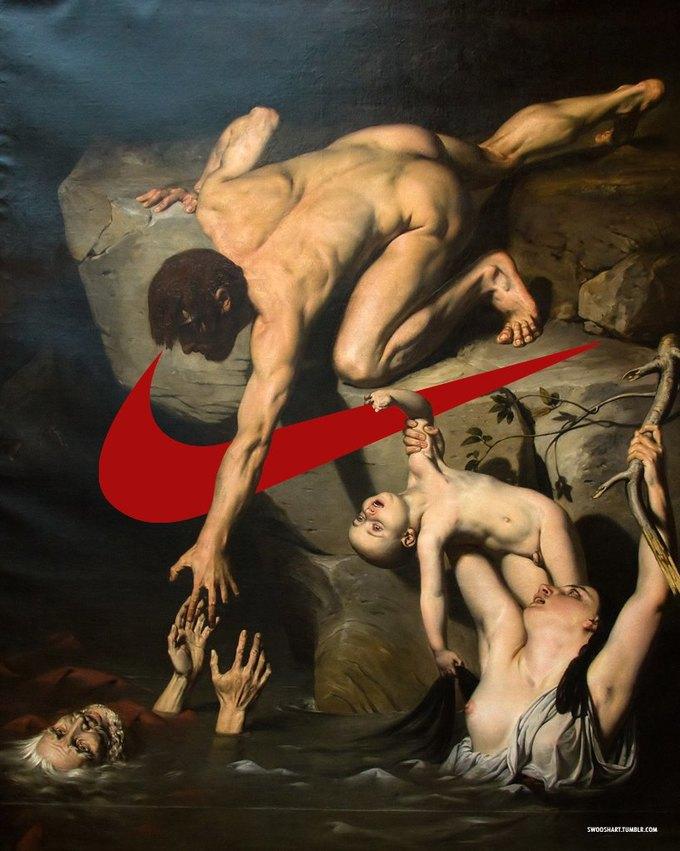 Swoosh Art: Эксперименты по объединению библейских сюжетов и легендарного логотипа . Изображение № 13.