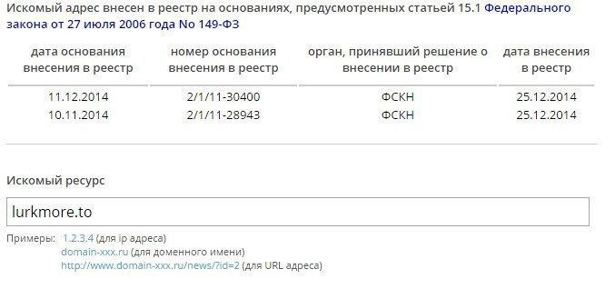 Роскомнадзор вновь внёс «Лурк» в реестр запрещённых сайтов. Изображение № 1.