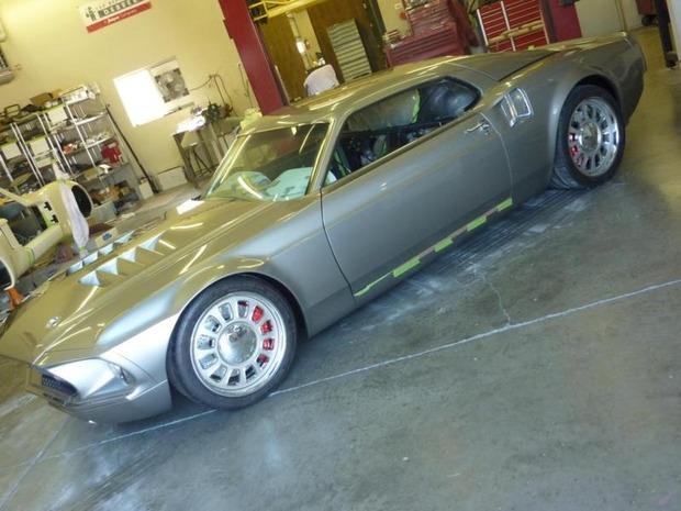 Американская мастерская изготовила гибрид маслкара Ford Mustang Mach 1 и спорткара GT40. Изображение № 5.