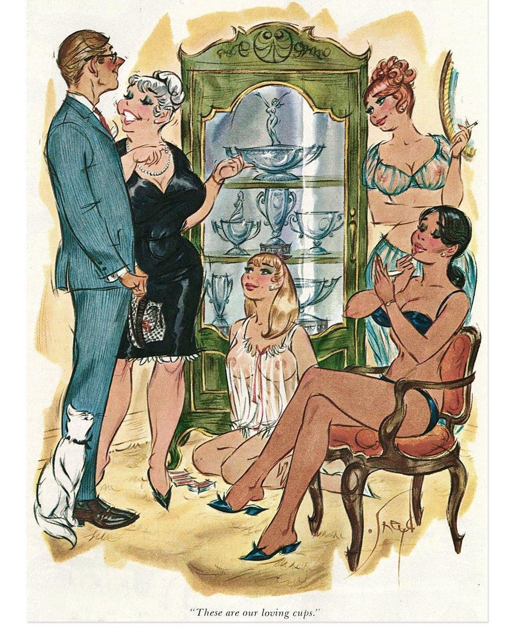 Эротические карикатуры из мужских журналов 1960-х годов. Изображение № 3.