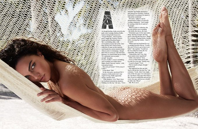 Бразильская модель Барбара Фиальо сфотографировалась для июньского номера GQ Australia. Изображение № 1.