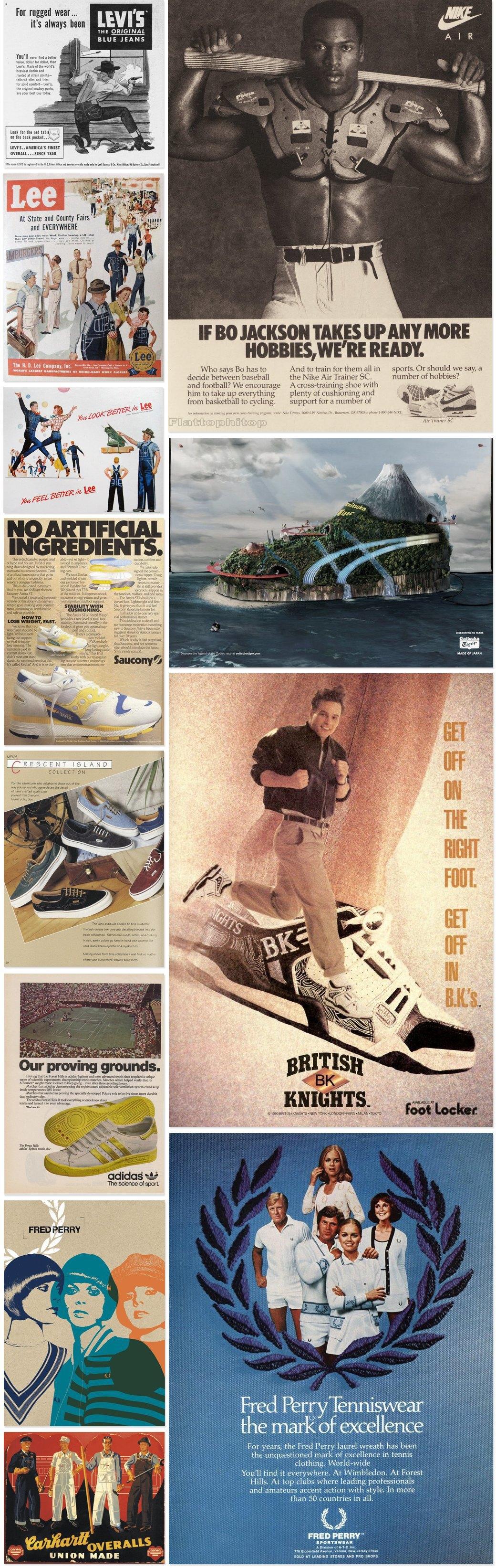 Назад в будущее: Винтажные рекламные плакаты современных марок одежды. Изображение № 2.