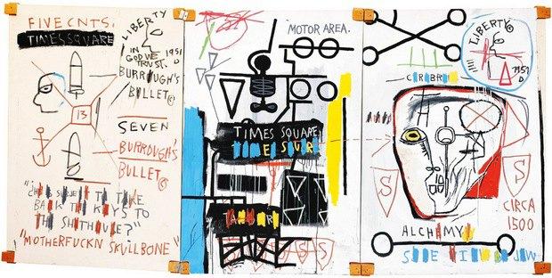 Картина Жана-Мишеля Баскии, посвященная Берроузу, будет выставлена на аукцион. Изображение № 1.