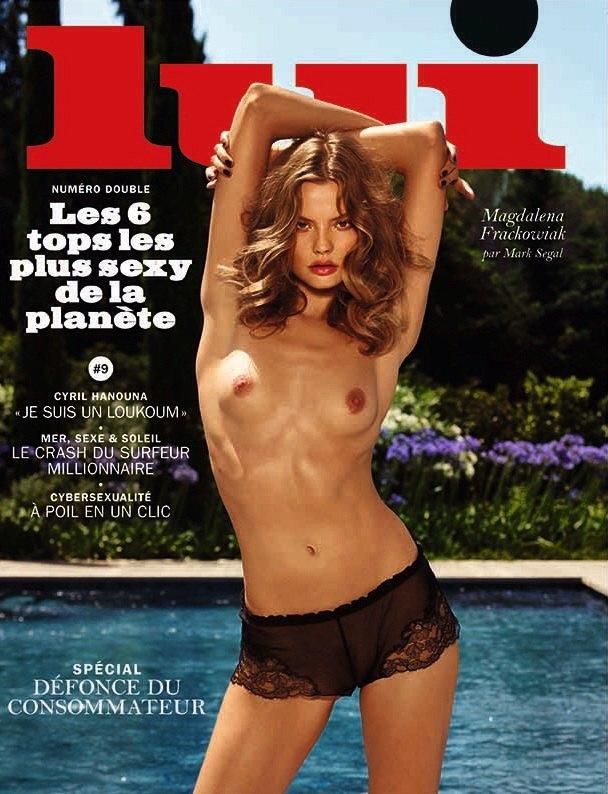 Магдалена Фраковяк сфотографировалась у Марка Сегала для июльского номера журнала Lui Magazine . Изображение № 1.