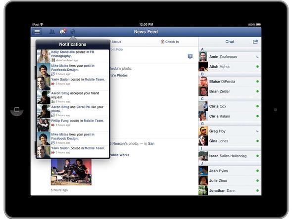 Справа — чат. Сверху, все как в оригинальном сайте — оповещения, новые друзья и сообщения. Изображение № 3.