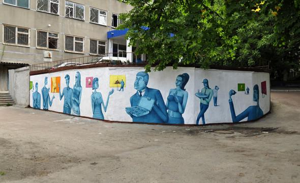 Скетчбук: Участники граффити-дуэта из Киева Interesni Kazki рассказывают о своих лучших работах. Изображение № 18.