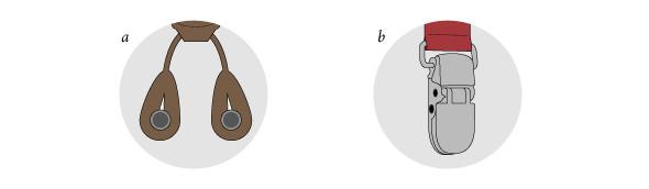 a) с петлями, b) с клипсами. Изображение № 2.