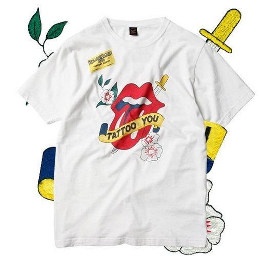 Японские модные бренды отметили юбилей The Rolling Stones коллекцией футболок. Изображение № 18.