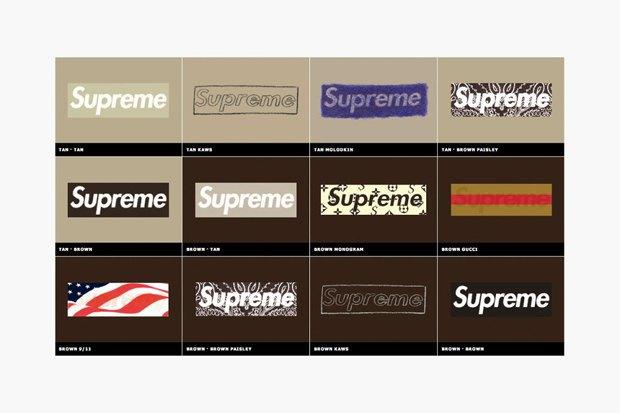 Магазин Kopbox собрал в архив все разновидности логотипа марки Supreme. Изображение № 11.