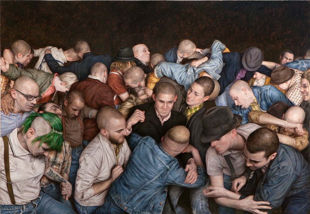 Эстетика мошпита: Хардкор-живопись, вдохновлённая Рубенсом и Босхом. Изображение № 1.