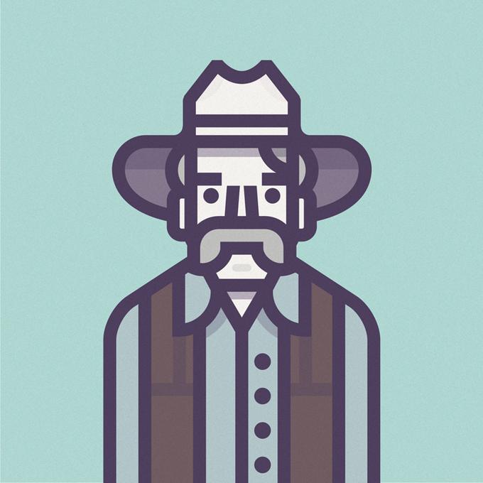 Coen Cast: Персонажи фильмов братьев Коэн в иллюстрациях дизайнера Ричарда Переса. Изображение № 7.