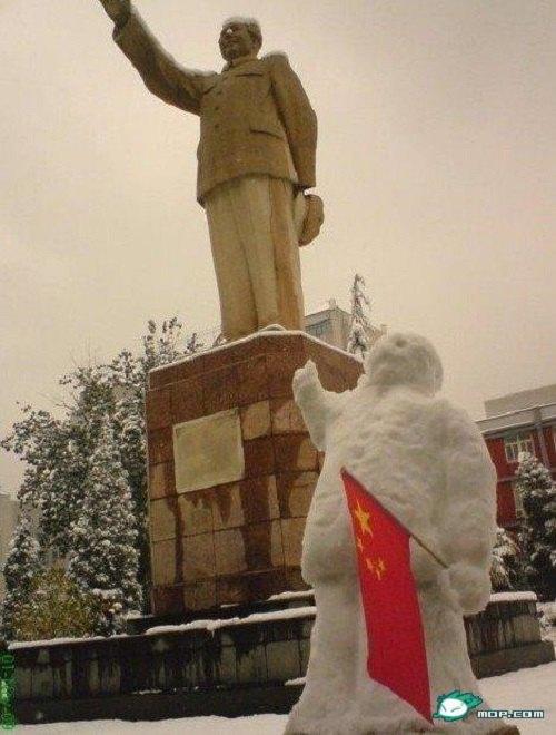 Что ты лепишь: Альтернативные снеговики со всего мира. Изображение №6.