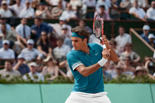 Роджер Федерер на турнире Ролан Гаррос. Источник: stussy.com. Изображение № 13.