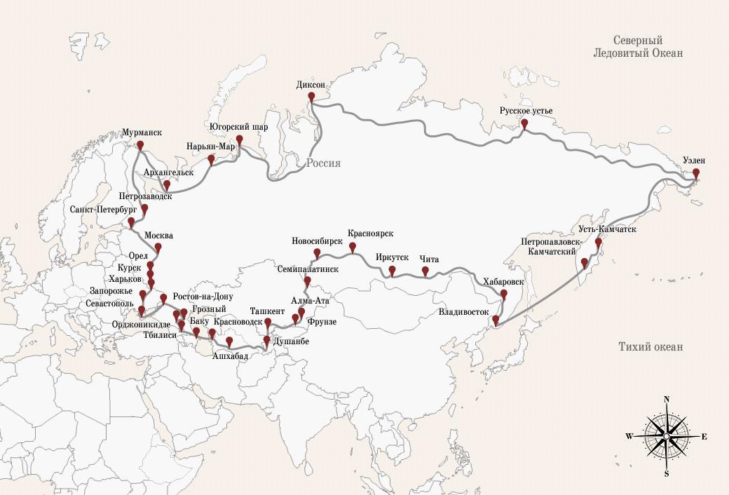Глеб Травин: 85 000 км на велосипеде вдоль границ Советского Союза. Изображение № 2.