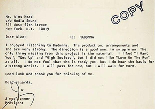 Как правильно сказать «нет»: 6 писем с отказами из истории поп-культуры. Изображение № 1.