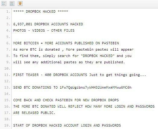 Около 7 миллионов паролей Dropbox оказалось в распоряжении хакеров. Изображение № 1.