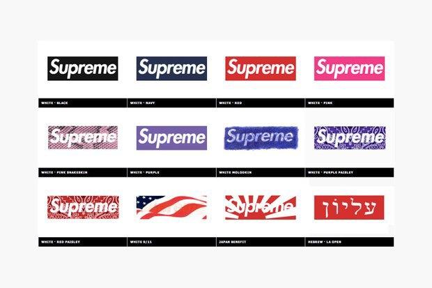 Магазин Kopbox собрал в архив все разновидности логотипа марки Supreme. Изображение № 5.