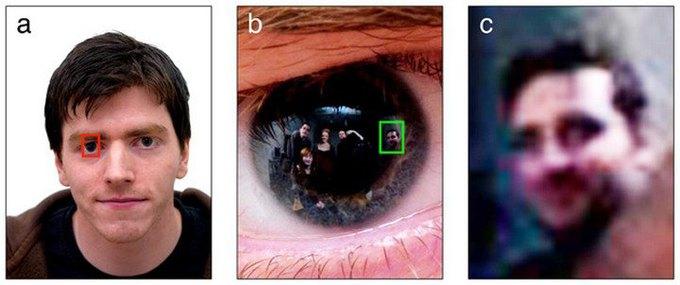 Шотландские исследователи идентифицировали человека по отражению в глазах. Изображение № 1.