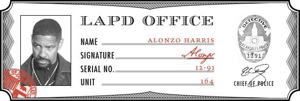 В роли Алонзо Харриса — Дензел Вашингтон. Изображение № 11.