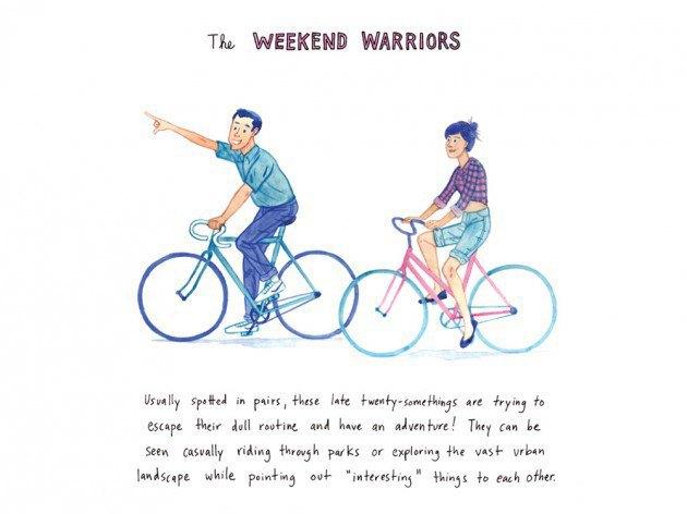 Художник-иллюстратор классифицировал нью-йоркских велосипедистов. Изображение № 1.