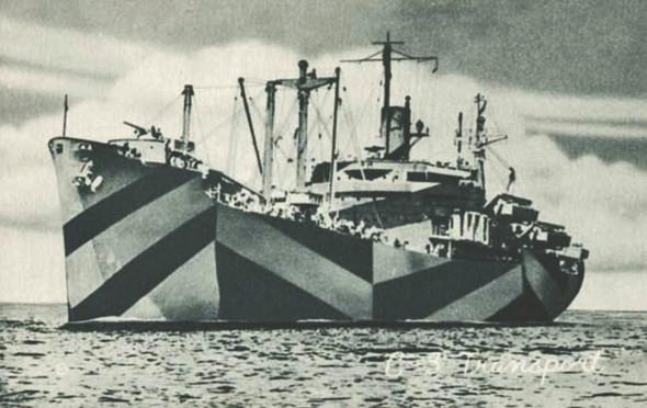 Океанический лайнер HMS Alsatian в камуфляже Dazzle. Изображение № 8.