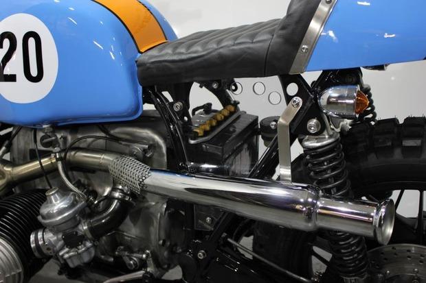 Английская мастерская Kevils Speed Shop выпустила скрэмблер в честь Porsche 917 . Изображение № 12.