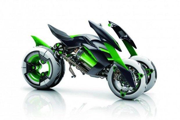 Kawasaki представили новый мотоцикл-трансформер. Изображение № 10.