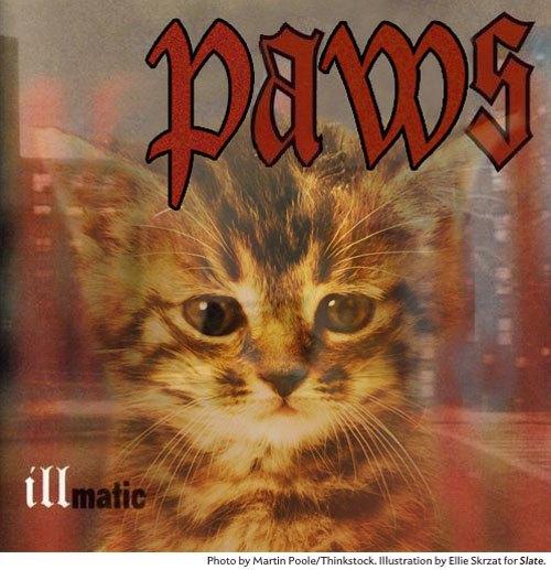 Художница поместила котов на обложки культовых рэп-альбомов. Изображение № 7.