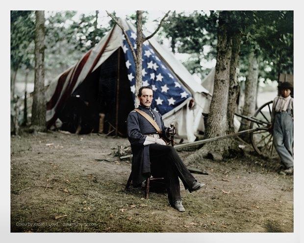 Опубликованы раскрашенные фотографии времен Гражданской войны в США. Изображение № 4.