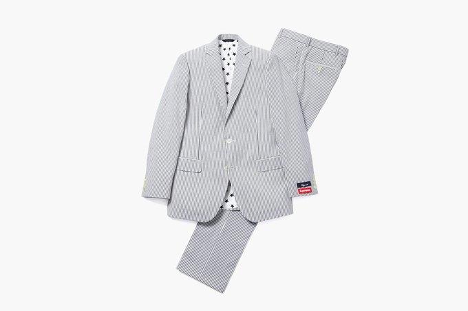 Марки Supreme и Brooks Brothers представили новую коллекцию одежды. Изображение № 7.