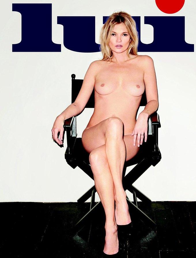 Терри Ричардсон сфотографировал обнаженную Кейт Мосс для журнала Lui Magazine. Изображение № 1.