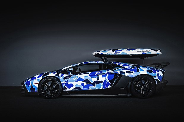 Марка Bape и компания Lamborghini представили совместную модель автомобиля Aventador. Изображение № 3.