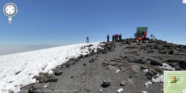 При помощи Google Street View теперь можно побывать на Килиманджаро, Эвересте и других вершинах. Изображение № 6.