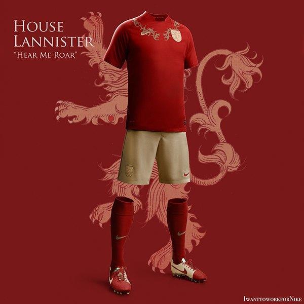 Испанский дизайнер создал футбольную форму для «Игры престолов» . Изображение № 9.