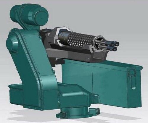 Немецкая компания изготовила трехствольный пулемет с электромотором. Изображение № 5.