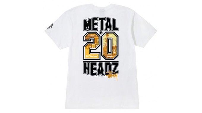 Марка Stussy поздравила лейбл Metalheadz с 20-летием выпуском футболок. Изображение № 3.