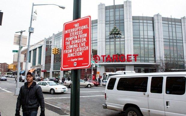 Нью-йоркский художник Джей Шеллс крепит к столбам таблички с рэп-цитатами. Изображение № 16.