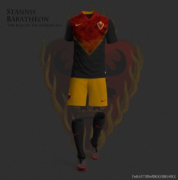 Испанский дизайнер создал футбольную форму для «Игры престолов» . Изображение № 4.