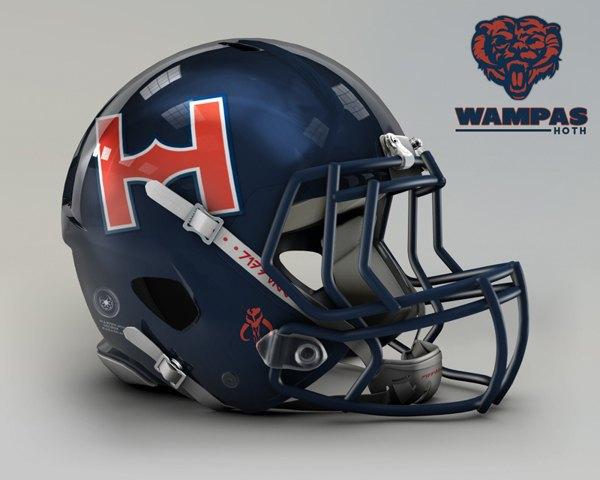 Мексиканец создал коллекцию футбольных шлемов, посвящённую «Звёздным войнам». Изображение № 9.
