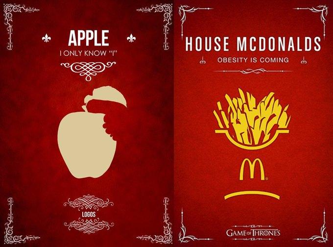 Как выглядели бы логотипы брендов в мире «Игры престолов». Изображение № 5.