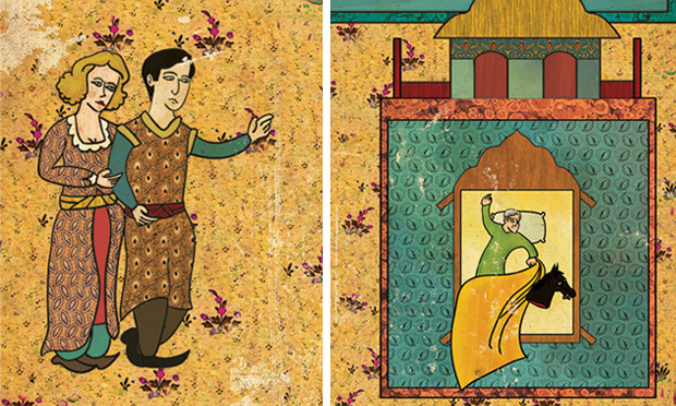 Турецкий художник изобразил кадры из известных фильмов в стиле миниатюр времен Османской империи. Изображение № 6.