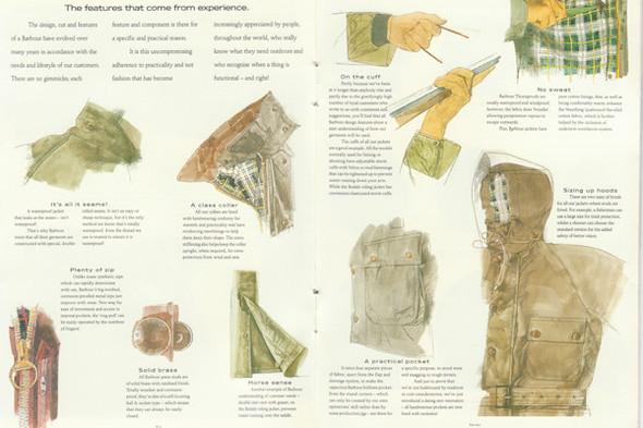 Разворот из каталога Barbour 1990-х годов. Изображение № 12.