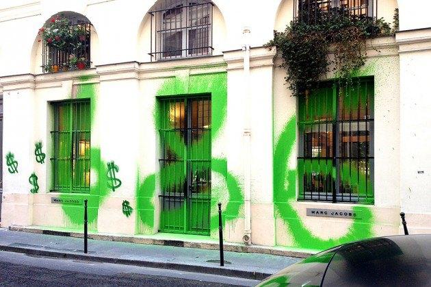 Художник Kidult вновь разрисовал магазин марки Marc Jacobs. Изображение № 1.