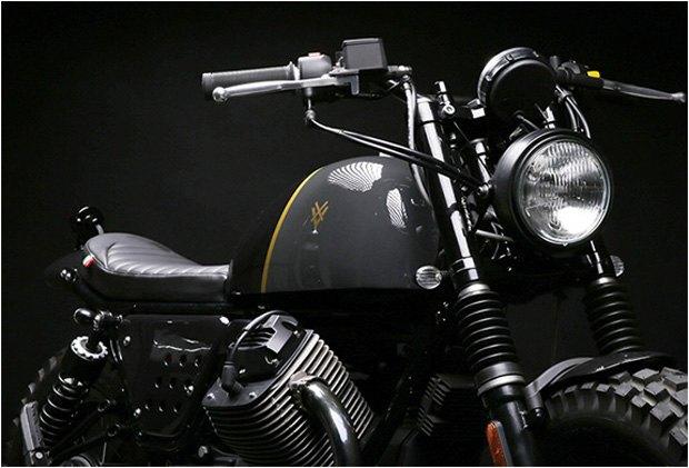 Стефан Вернье построил новый кастом на базе Moto Guzzi V7 Stone . Изображение № 5.